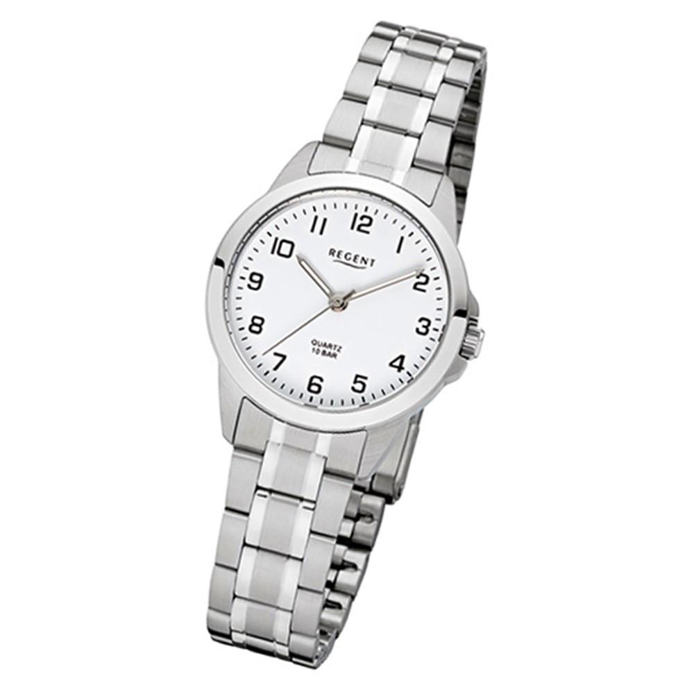 Regent Damen-Armbanduhr 32-F-1003 Quarz-Uhr Edelstahl-Armband silber URF1003