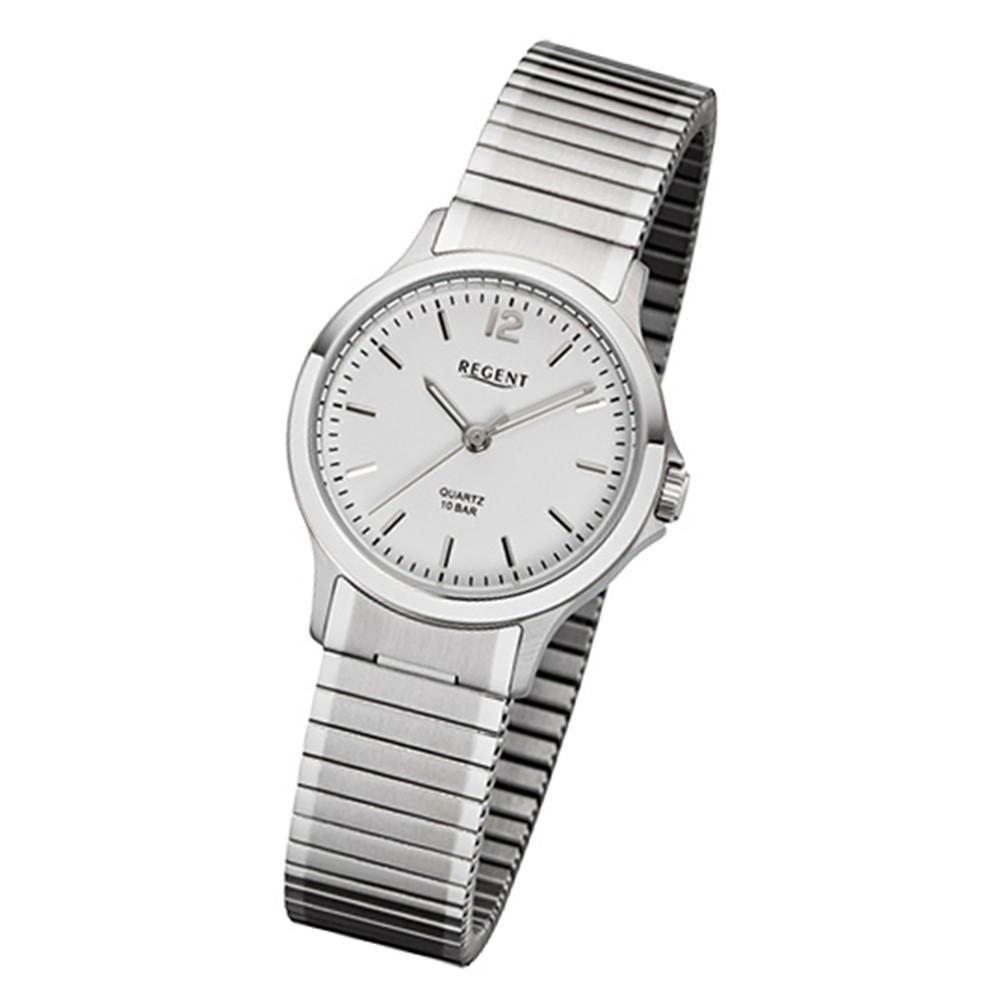 Regent Damen-Armbanduhr 32-F-1018 Quarz-Uhr Edelstahl-Armband silber URF1018