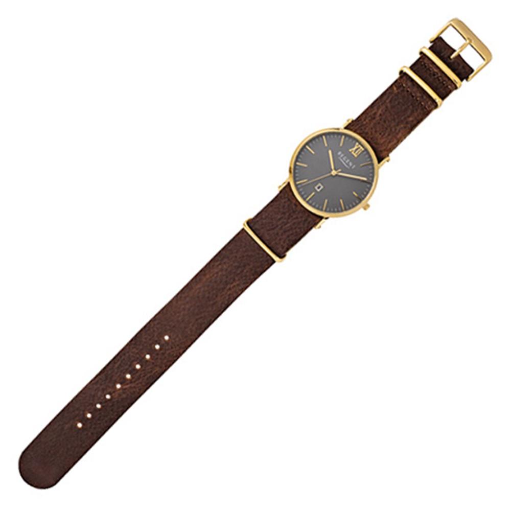 Regent Herren-Armbanduhr 32-F-1034 Quarz-Uhr Leder-Armband braun URF1034