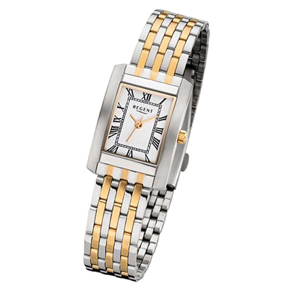 Regent Damen-Armbanduhr 32-F-1052 Quarz-Uhr Edelstahl-Armband silber gold URF105 URF1052