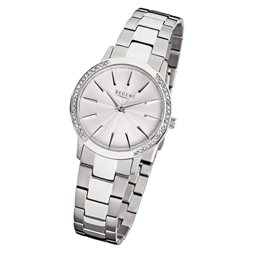 Regent Damen-Armbanduhr 32-F-1054 Quarz-Uhr Edelstahl-Armband silber URF1054