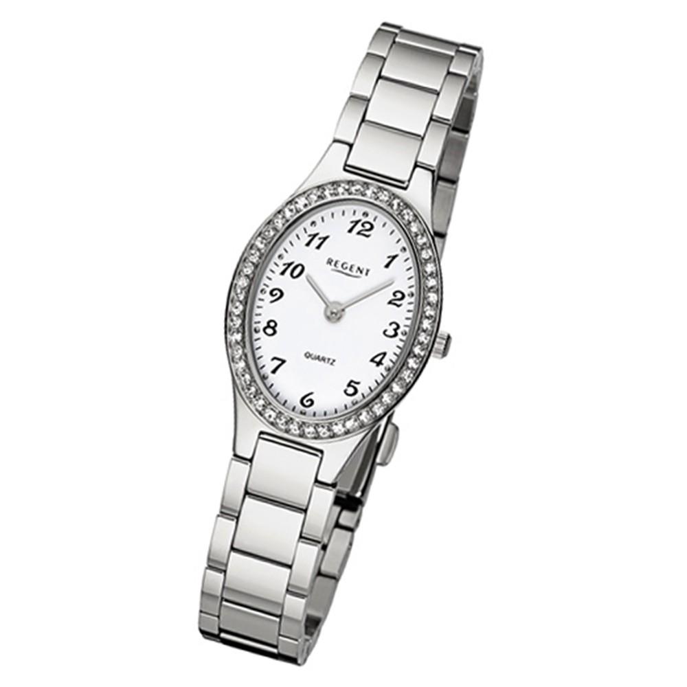 Regent Damen-Armbanduhr 32-F-1065 Quarz-Uhr Edelstahl-Armband silber URF1065
