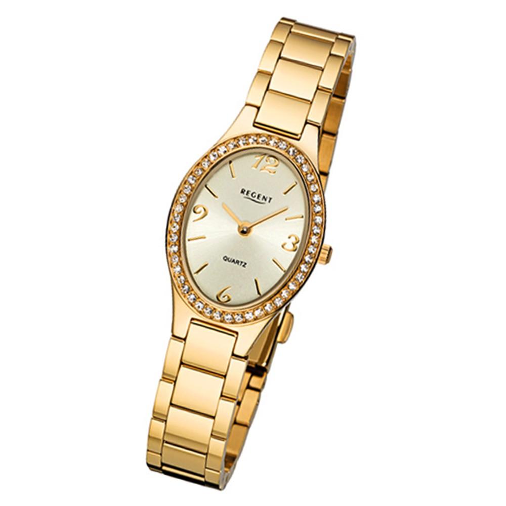 Regent Damen-Armbanduhr 32-F-1067 Quarz-Uhr Edelstahl-Armband gold URF1067
