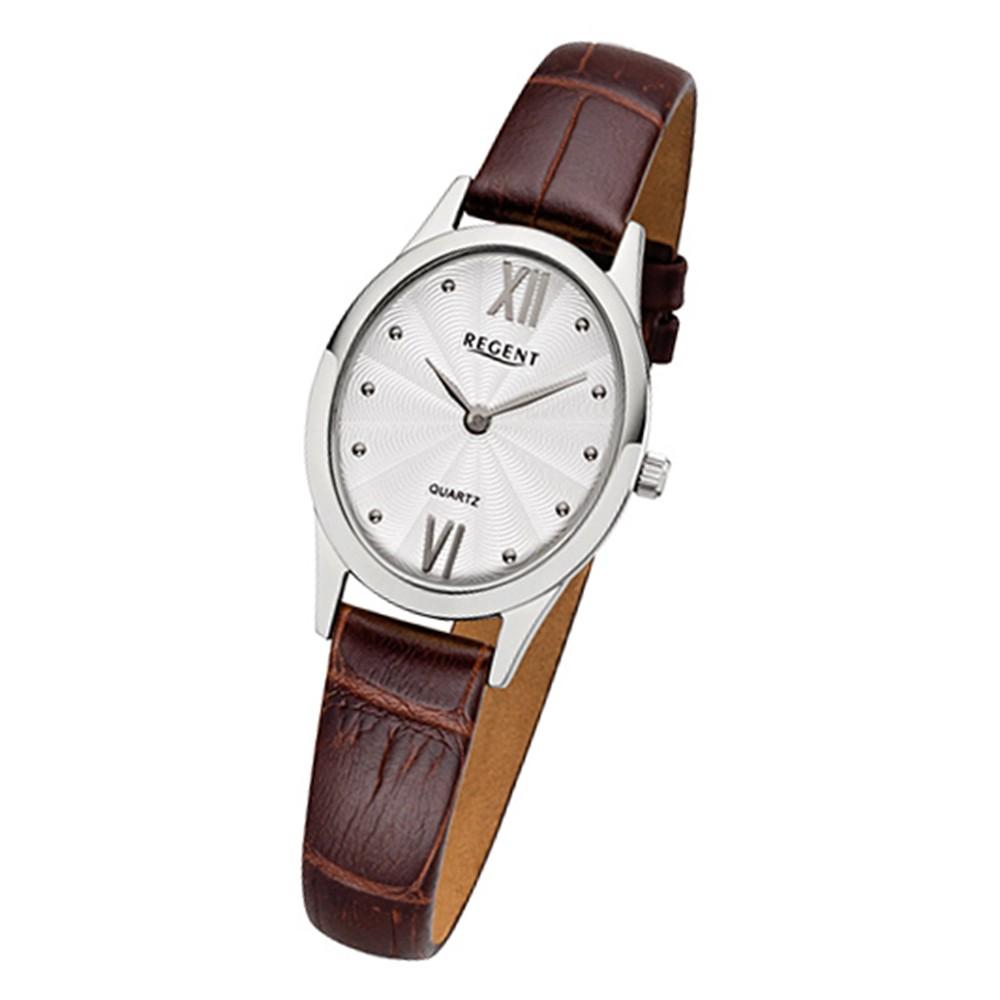 Regent Damen-Armbanduhr 32-F-1080 Quarz-Uhr Leder-Armband braun URF1080