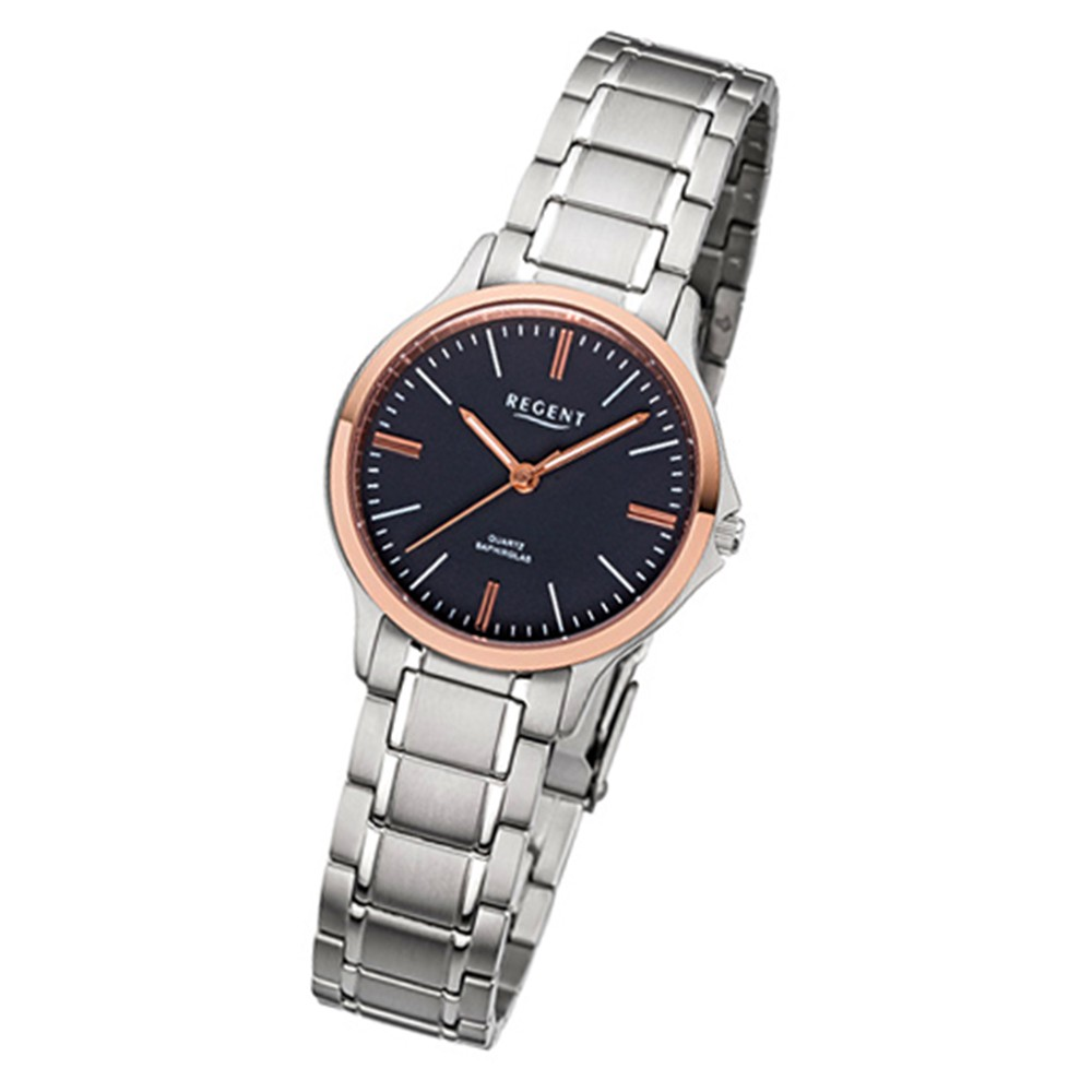 Regent Damen-Armbanduhr 32-F-1083 Quarz-Uhr Titan-Armband silber URF1083