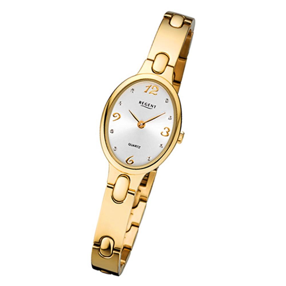 Regent Damen-Armbanduhr 32-F-1092 Quarz-Uhr Titan-Armband gold URF1092