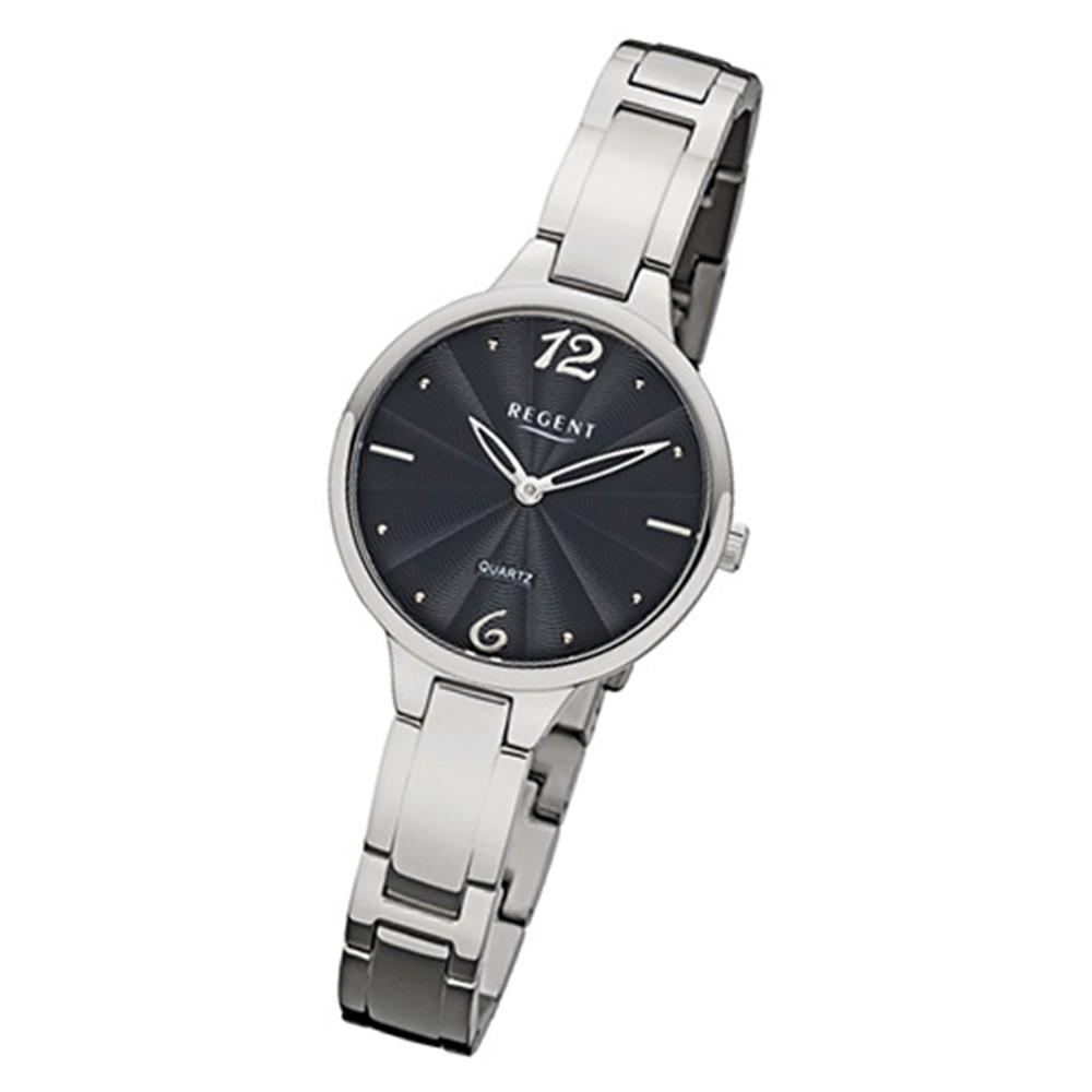 Regent Damen-Armbanduhr 32-F-1097 Quarz-Uhr Titan-Armband silber URF1097