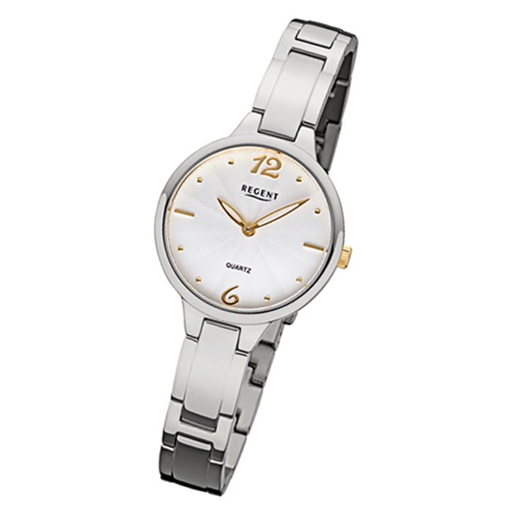 Regent Damen-Armbanduhr 32-F-1098 Quarz-Uhr Titan-Armband silber URF1098
