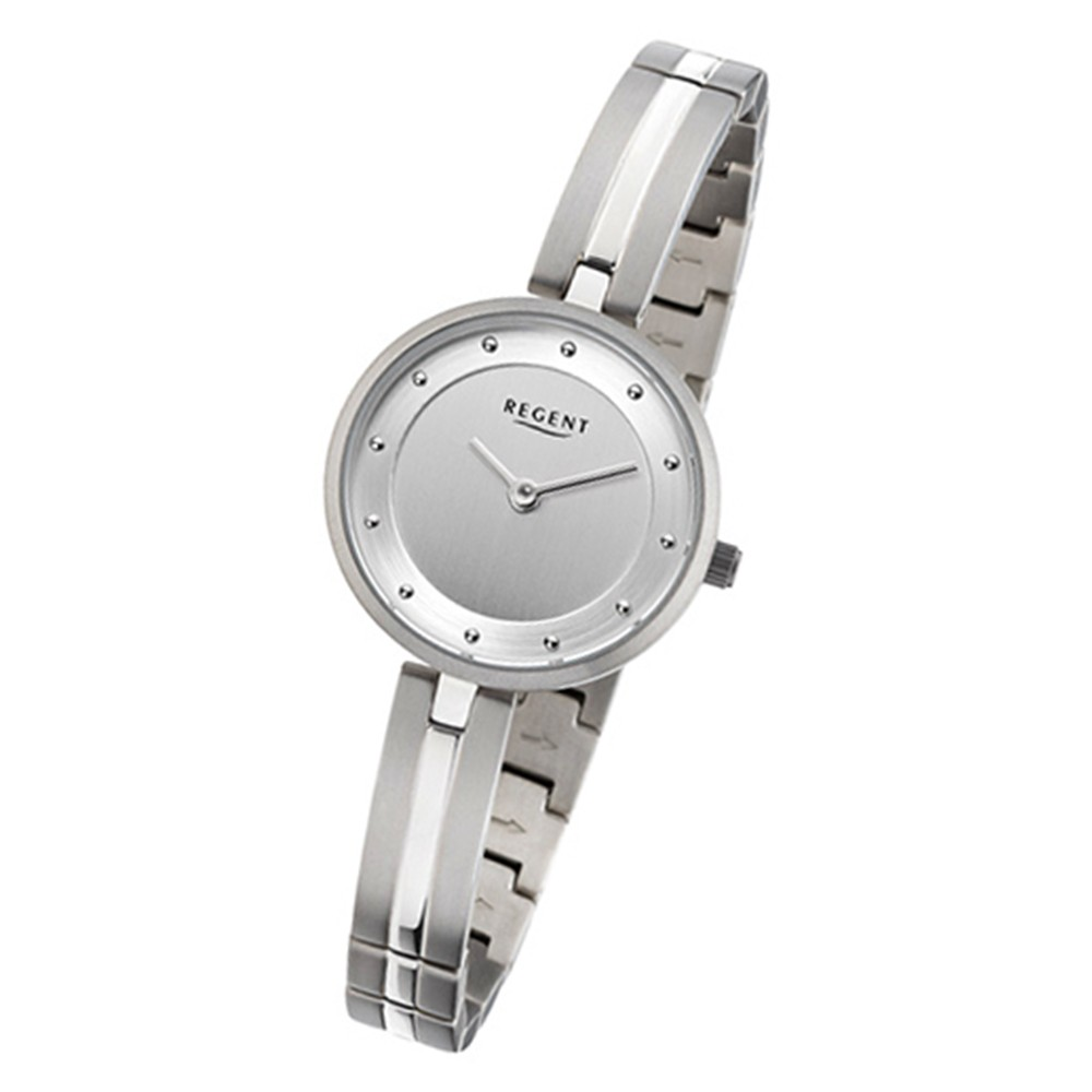 Regent Damen-Armbanduhr 32-F-1099 Quarz-Uhr Titan-Armband silber URF1099