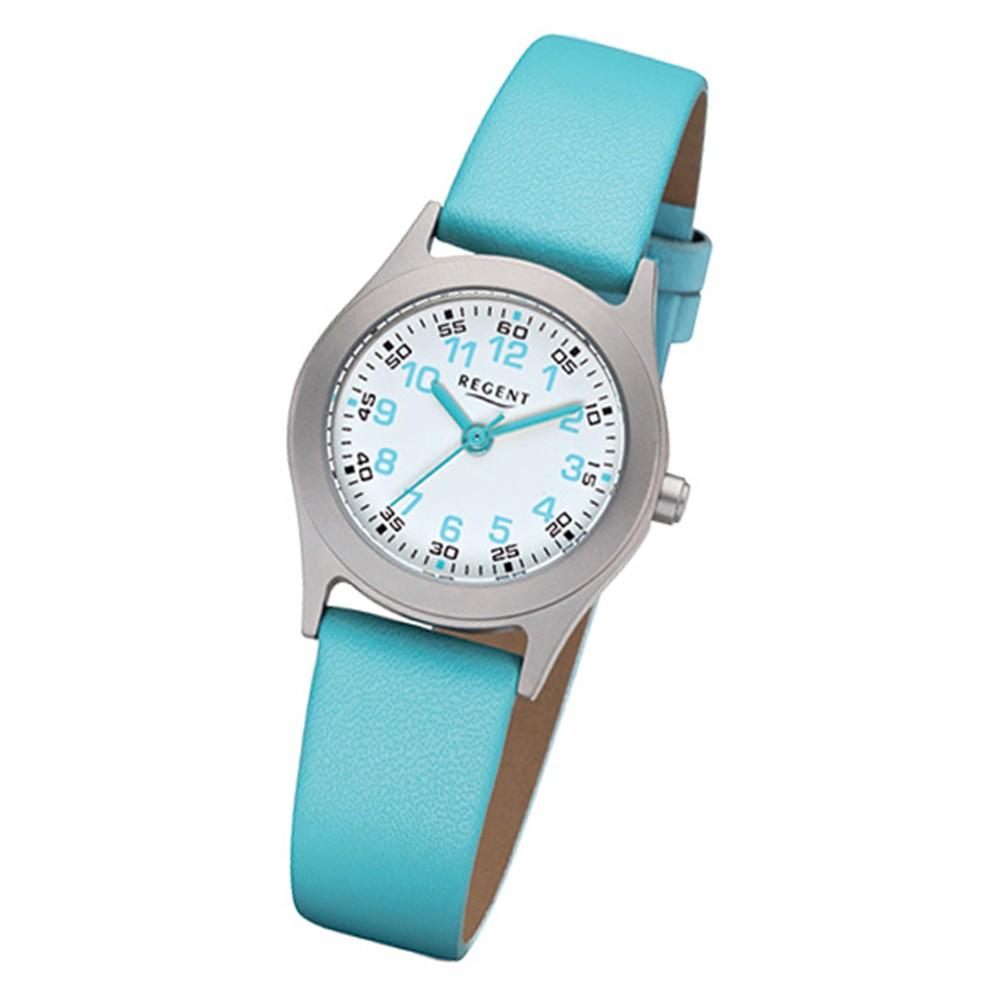 Armbanduhr kinder  Kinder-Armbanduhr 32-F-1119 Quarz-Uhr Leder-Armband türkis URF1119