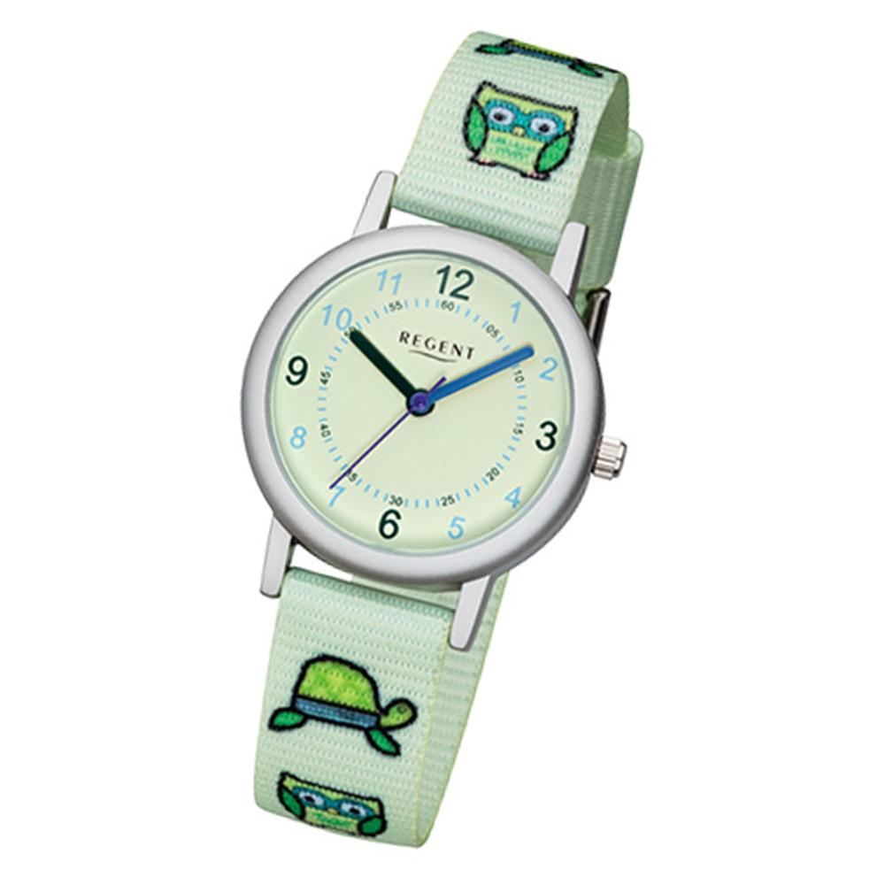 Regent Kinder-Armbanduhr 32-F-1127 Quarz-Uhr Textil, Stoff-Armband mintgrün URF1 URF1127