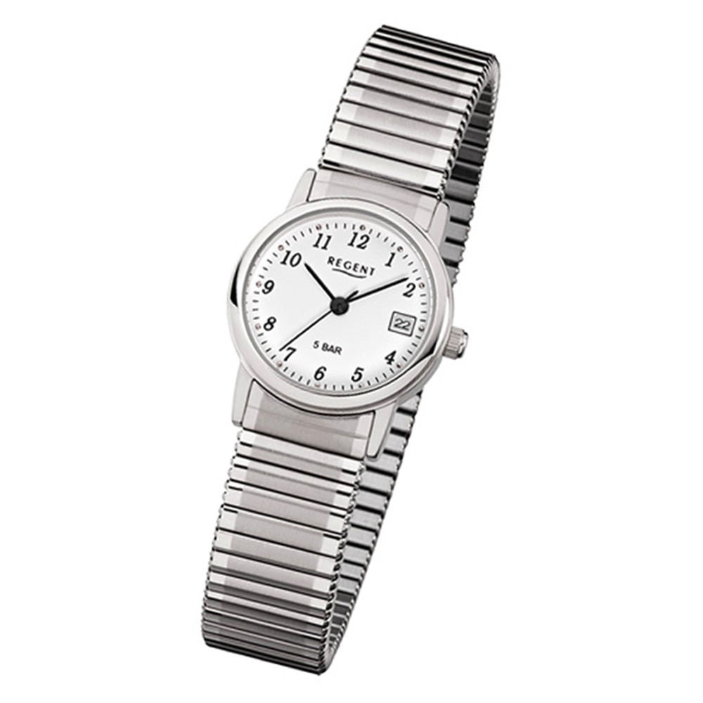 Regent Damen-Armbanduhr Mineralglas Quarz Edelstahl silber URF888