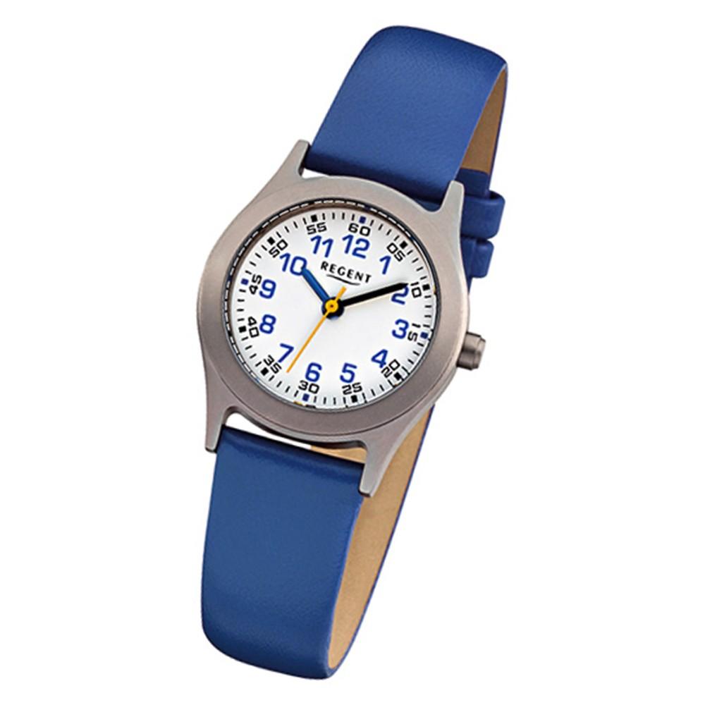 regent kinder armbanduhr kinderuhren quarz leder blau. Black Bedroom Furniture Sets. Home Design Ideas