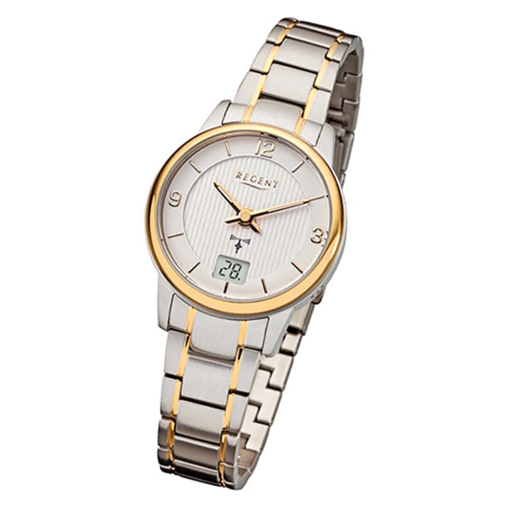 Armbanduhr Armband Silber 202 Funkuhr Gold Regent Urfr202 Metall Damen Fr kuOPiXZ