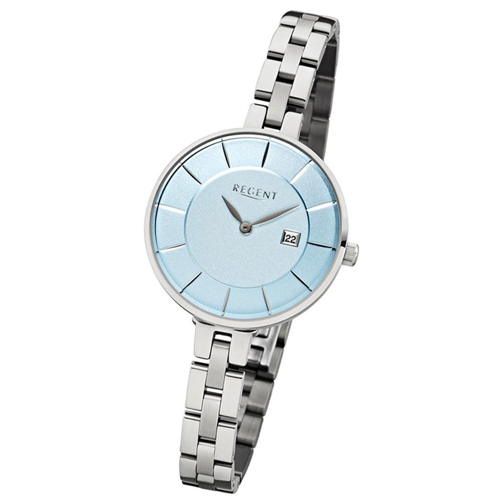 Regent Damen-Armbanduhr - Metallarmband - Quarz Edelstahl silber URLD1601