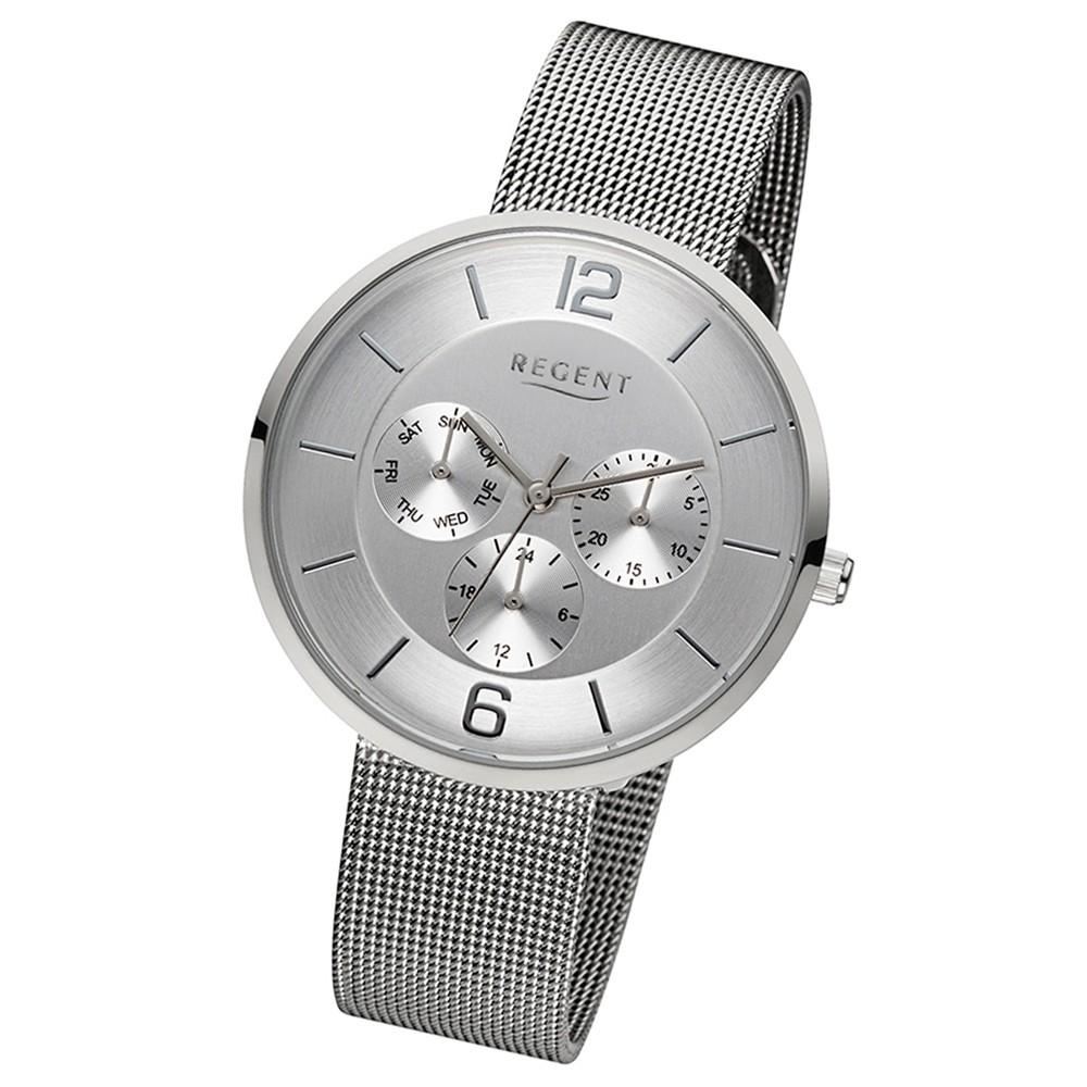 Regent Damen-Uhr Metallarmband Quarzwerk Edelstahl silber URLD1618