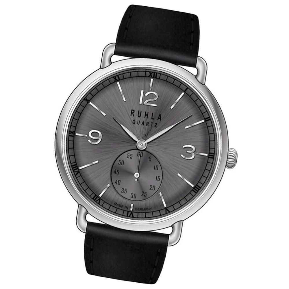 RUHLA Herren-Armbanduhr Quarzuhr Ruhla-Classic 23911 Lederarmband Uhr URU23911