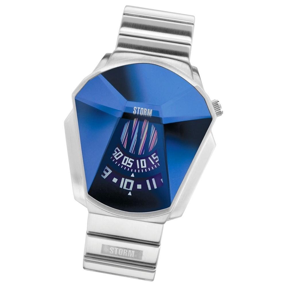 STORM Herrenuhr blau 3-Disc Edelstahl Armband Uhr DARTH LAZER BLUE UST47001/B0