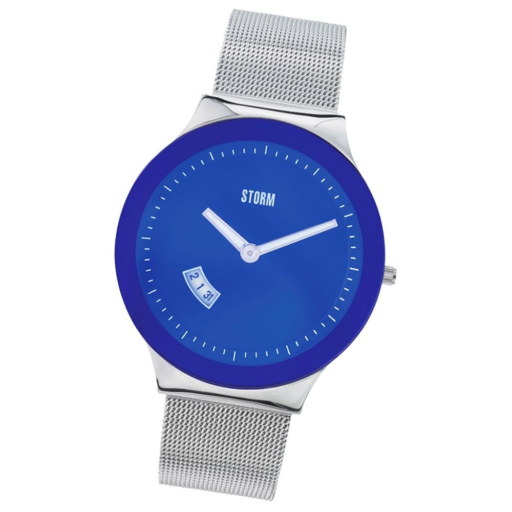 STORM Herrenuhr blau Edelstahl Armband Uhr SOTEC LAZER BLUE UST47075/B0