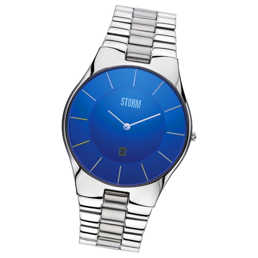 STORM Herrenuhr blau Edelstahl Armband Uhr SLIM-X XL LAZER BLUE UST47159/B0