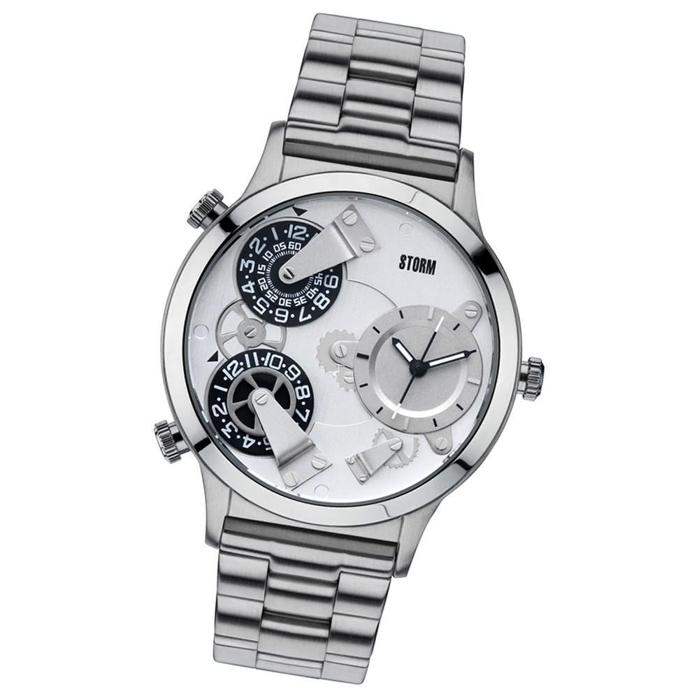 STORM Herrenuhr silber Edelstahl Armband Uhr TRION SILVER UST47202/S0