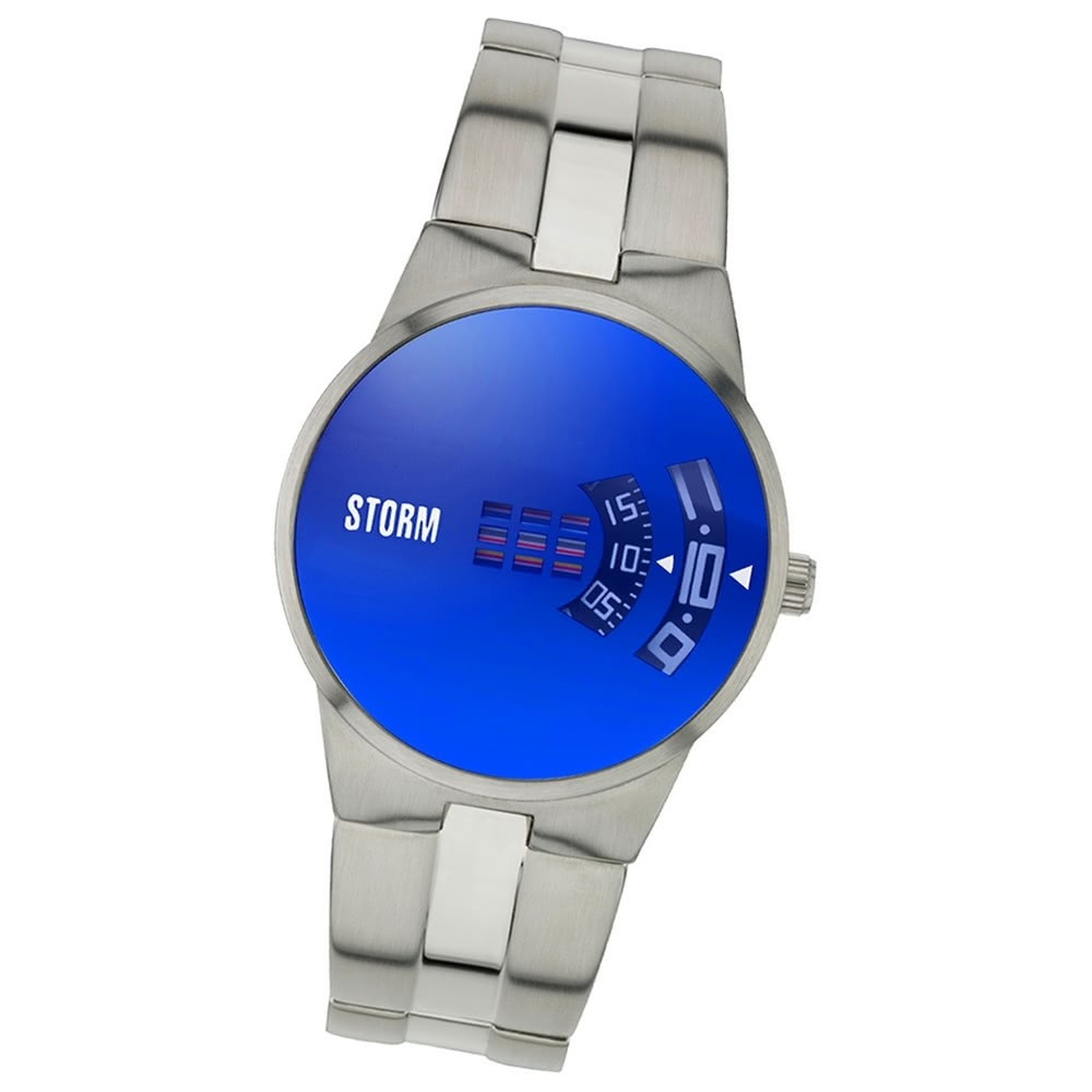 STORM Herrenuhr blau Edelstahl Armband Uhr NEW REMI LAZER BLUE UST47210/B0