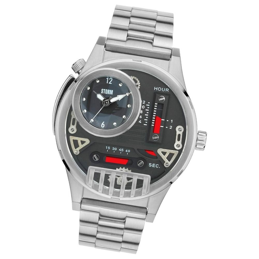 STORM Herrenuhr schwarz Edelstahl Armband Uhr HYDROXIS BLACK UST47237/BK