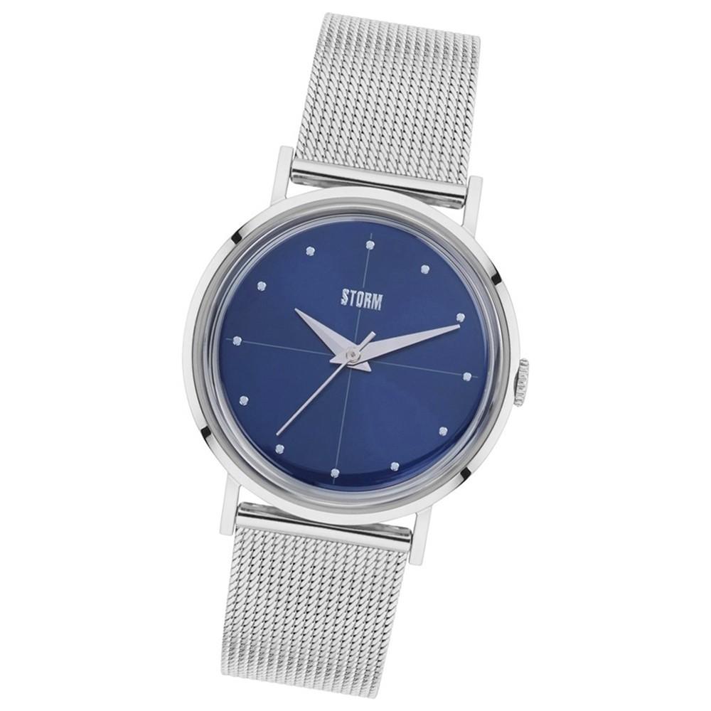 Storm Damen-Armbanduhr Mineralglas Quarzuhr Edelstahl-Armband silber UST47324/B0