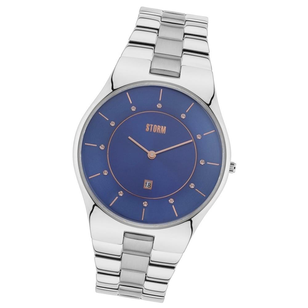 Storm Damen-Armbanduhr Mineralglas Quarzuhr Edelstahl-Armband silber UST47325/B0