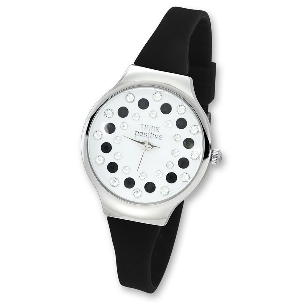 THINK positive Damen Jugend Uhr Stardust Analog Quarz Silikon schwarz UTP1054S
