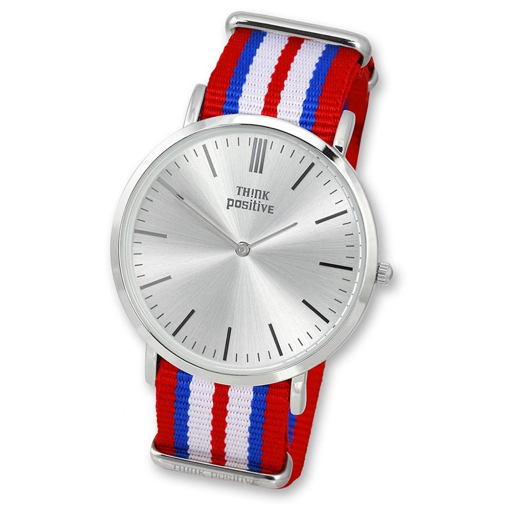 THINK positive Damen Herren Armbanduhr Casual Analog Quarz Textil/Nylon UTP3055R