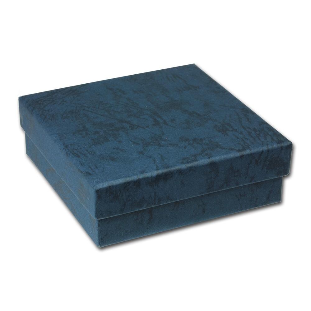 SD Geschenk-Verpackung blau Schmuckschachtel 90x90x30mm Etui VE3093B