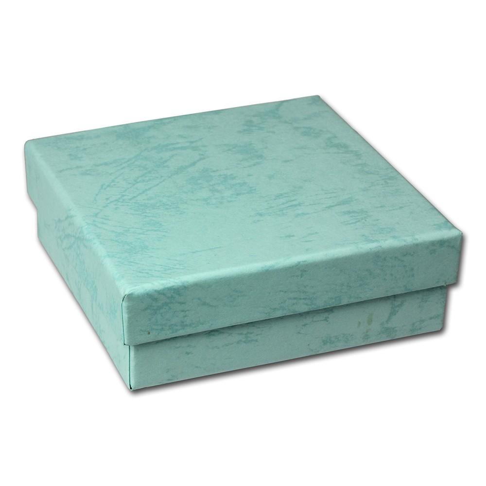 SD Geschenk-Verpackung hellblau Schmuckschachtel 90x90x30mm Etui VE3093H