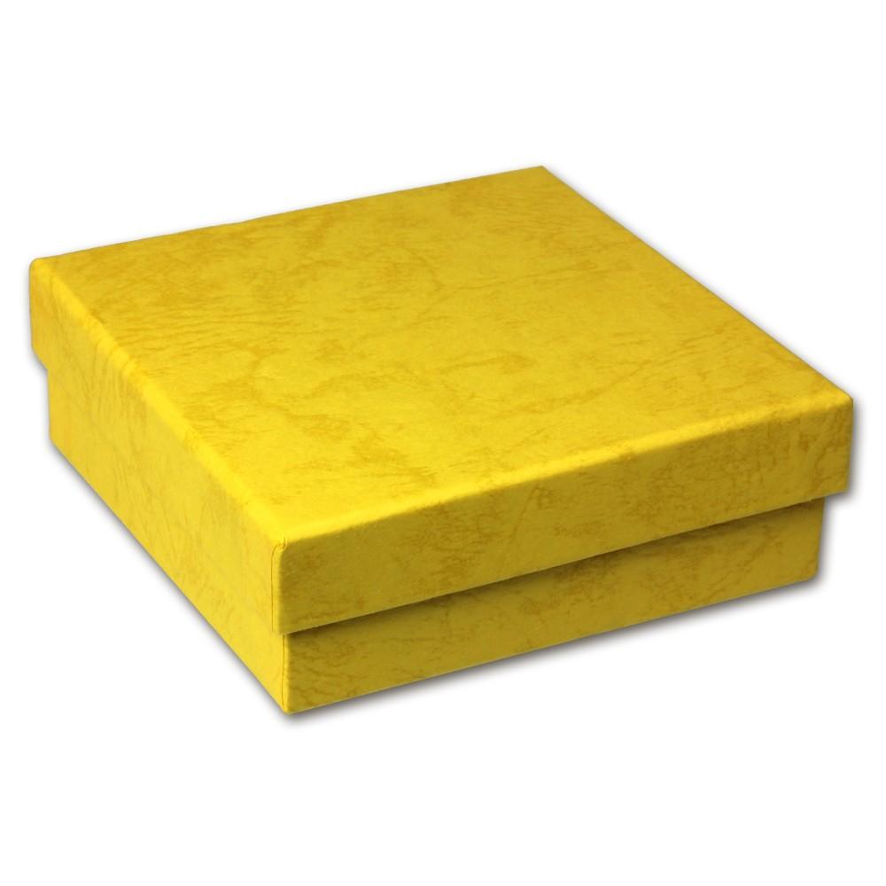SD Geschenk-Verpackung gelb Schmuckschachtel 90x90x30mm Etui VE3093Y