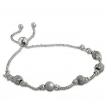 Armäleon Damenarmband Komplettset Kugel Design+Verschluss 925 Silber ARS001J