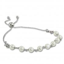Armäleon Damenarmband Komplettset Perlen weiß Design+Verschluss 925er ARS004W
