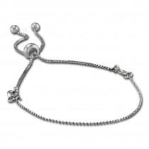 Armäleon Damenarmband Komplettset Kugelkette Design+Verschluss 925er ARS010J