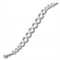 Balia Damen Armband 925 Silber matt und glanz 19,5cm BAA0004SP