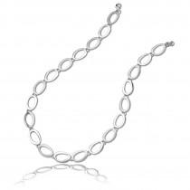 Balia Damen Collier Halskette matt-glanz aus 925 Silber 45cm BAK001S45