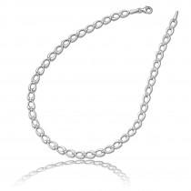 Balia Halskette für Damen matt-glanz aus 925 Silber 45cm BAK006S45