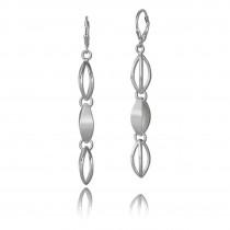 Balia Ohrhänger für Damen matt glanz aus 925er Silber BAO0006SP