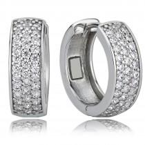 Balia Creolen für Damen glänzend Zirkonia aus 925 Silber BAO0008SW