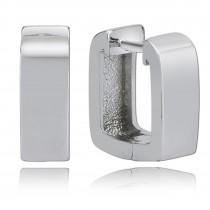 Balia Creolen für Damen eckig glänzend aus 925er Silber BAO0009SS