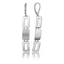 Balia Ohrhänger für Damen matt glanz aus 925er Silber BAO0012SM