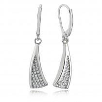 Balia Ohrhänger für Damen glanz Zirkonia aus 925er Silber BAO0017SW
