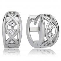 Balia Creolen für Damen glänzend Zirkonia aus 925er Silber BAO0021SW