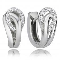 Balia Creolen für Damen glänzend Zirkonia aus 925er Silber BAO0024SW