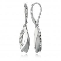 Balia Ohrhänger für Damen matt glanz gehämmert 925er Silber BAO0025SO