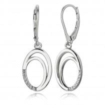 Balia Ohrhänger für Damen glanz Zirkonia 925er Silber BAO0026SW