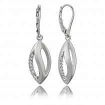 Balia Ohrhänger für Damen glanz matt Zirkonia 925er Silber BAO0029SW